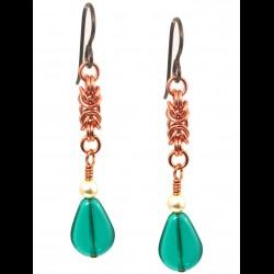 Copper Byzantine Earrings Small