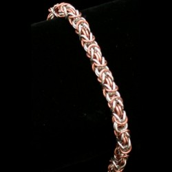 Copper and Silver Byzantine Bracelet